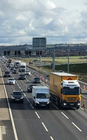 Operational safety on a motorway improvement